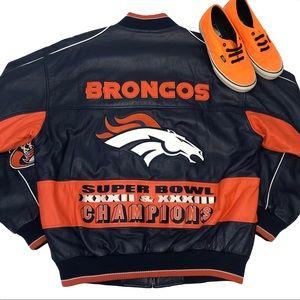 🔥RARE VTG Denver Broncos G-III Leather Jacket🔥